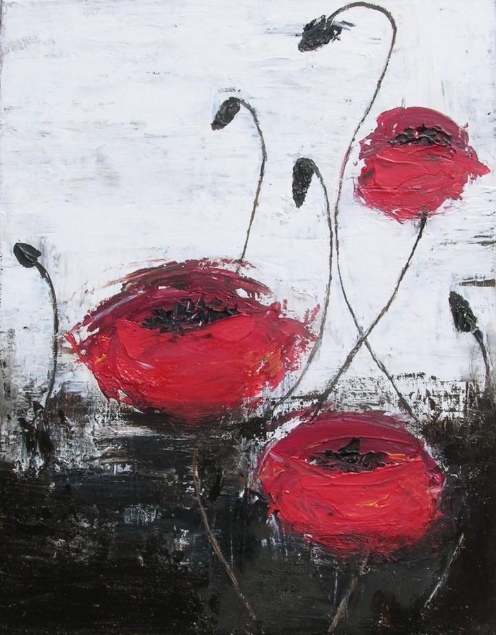 poppy acrylic on canvas